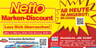 netto verteilt 28 seiten prospekt voller qr codes. Black Bedroom Furniture Sets. Home Design Ideas