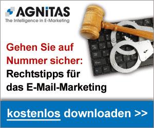 Rechtstipps für Ihr E-Mail-Marketing von AGNITAS.  Jetzt kostenlos downloaden unter
