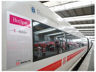 Deutsche Bahn Entertainmentprogramm und W-Lan.