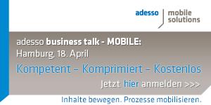 adesso business talk mobile am 18. April in Hamburg - jetzt kostenlos anmelden