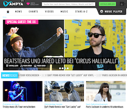 ProSiebenSat.1 startet AMPYA Onlinemusikdienst