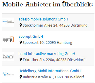 Mobile-Anbieter