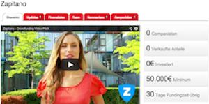 Zapitano will über Crowdinvesting-Plattform companisto 250.000 Euro einsammeln.