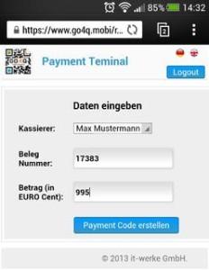 Go4Q startet Web-Terminal zur mobilen Bezahlung via QR-Code.