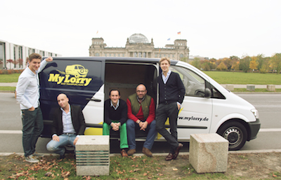 Team Mylorry in front of German Parliament
