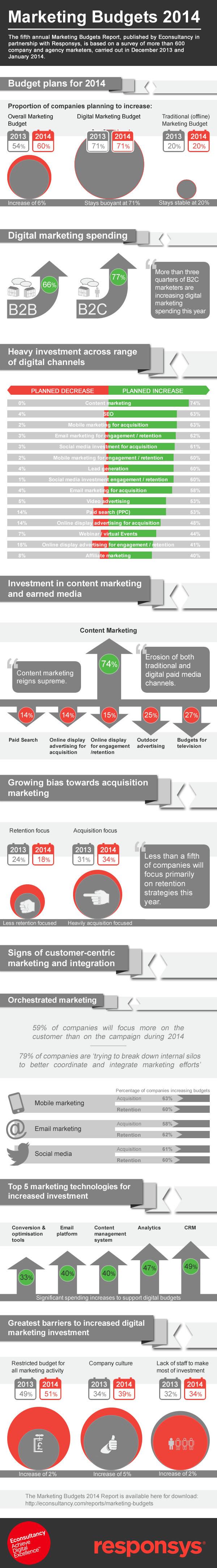 Marketing Budgets 2014 Infografik