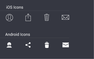 ios und android-icons