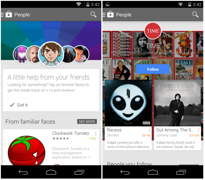 Google Play wird sozialer: People Feed