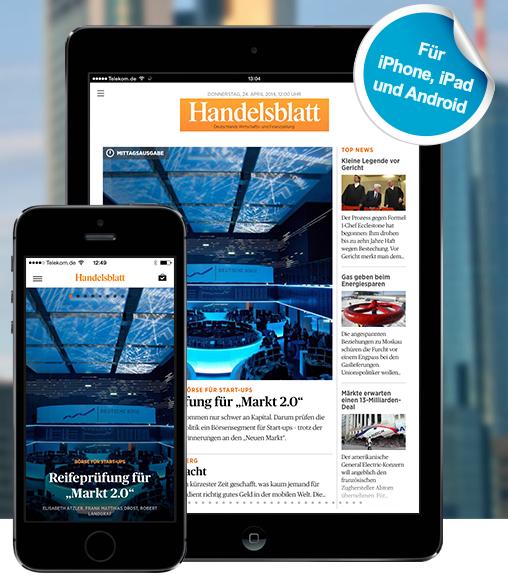 Handelsblatt launcht Live-App für iPhone