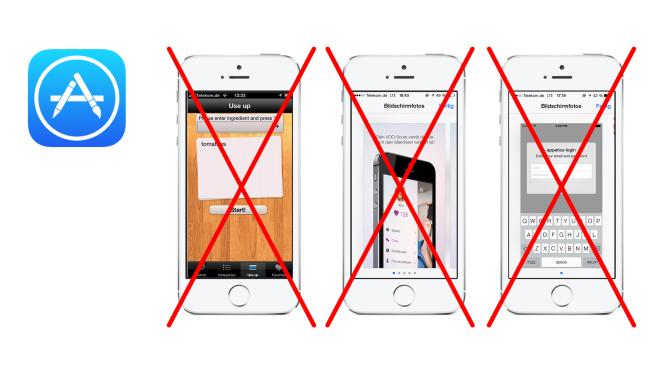 Screenshot-Design im Apple Appstore