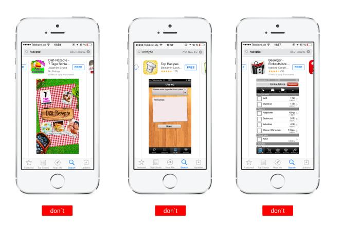 Screenshots von gelungenem UI-Design