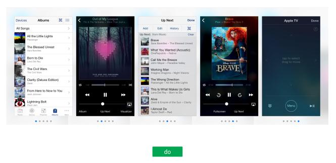 Apple Remote liefert schnörkellose Screenshots seiner App