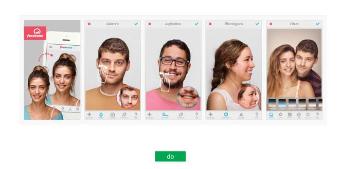 Funktionen in App-Screenshots andeuten