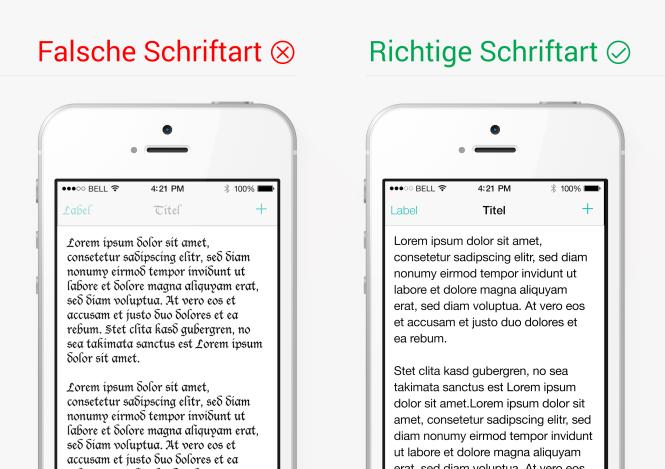 Schriftarten im App-Design