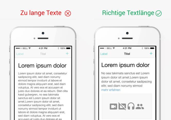 Typografie und Textlänge im App-Design
