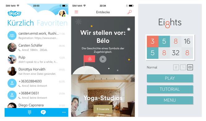 Typografie Beispiele iOS