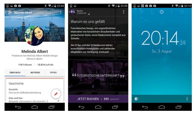 Typografie Beispiele Android