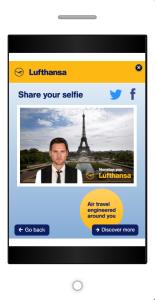 Selfie als Werbeformat