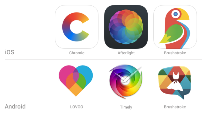 App-Icon Design-Trends  - Polychrome Icons