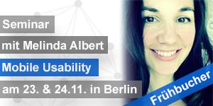 Seminar Mobile Usability iOS & Android Usability November2015 Melinda Albert