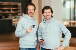 Haben gut lachen: Number26-Gründer Maximilian Tayenthal und Valentin Stalf.