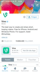 vine app promo on twitter