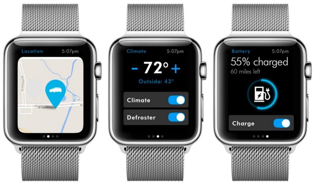 VW kündigt App für Apple Watch an.