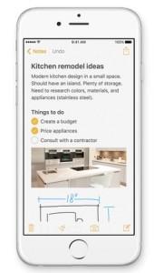 Apple Notizen App