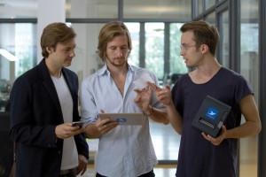 Orderbird-Gründerteam: Brienen, Schreyer, Schmidtke.