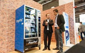 PayPal-Snackautomat auf der Mobikon.