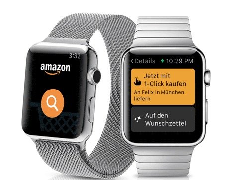Amazon auf der Apple Watch