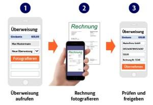 Fotoüberweisung bei der App der ING DiBa