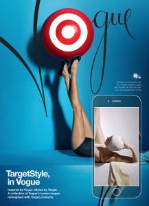 Target wirbt in der Vogue.