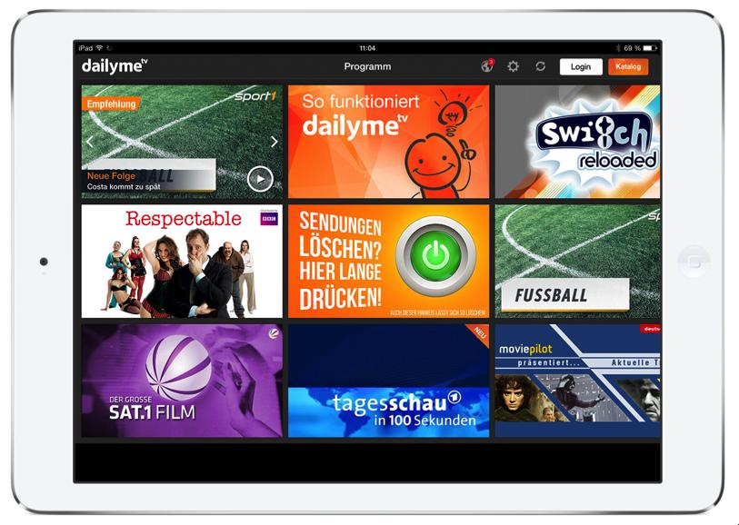 Die iPad-Version kann noch von den unterschiedlichen Teaser-Flächen auf der iPhone-App lernen.