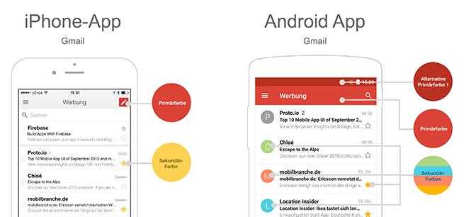 iOS vs Android - Farbe