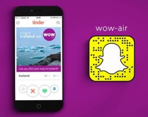 ad of the week: wow air verkuppelt auf tinder