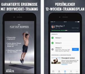 Runtastic Results App Bilder