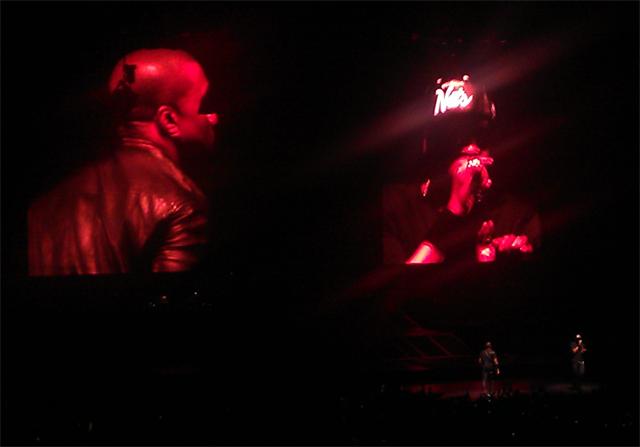 Kanye West (links) und Jay-Z bei einem gemeinsamen Konzert 2012 in London