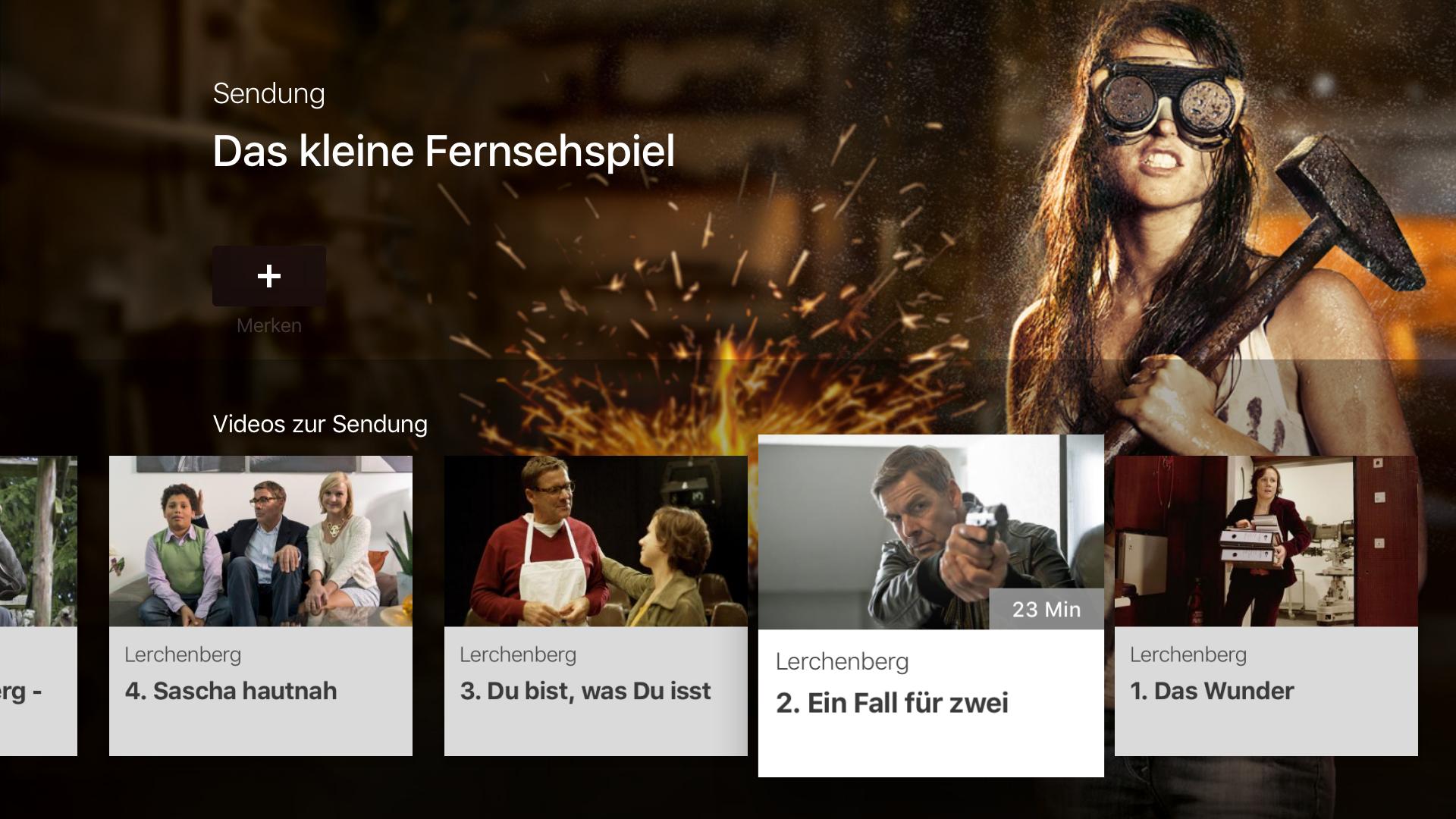 ZDF Mediathek auf Apple TV