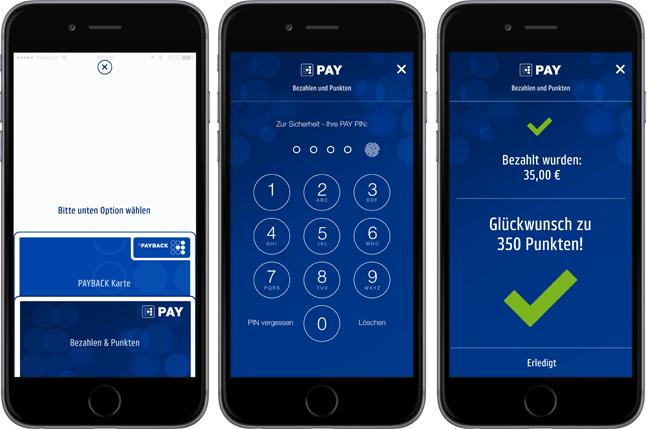 So sieht mobiles Bezahlen mit Payback Pay aus