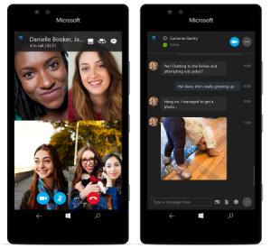 So soll Skype auf Smartphones mit Windows 10 aussehen