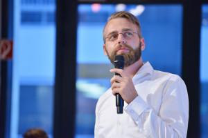 John-Paul Herrmann (Payback) bei seiner Keynote