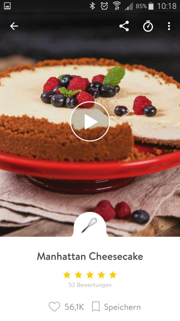 Der Manhattan Cheesecake ist eines der ältesten und beliebtesten Rezepte bei Kitchen Stories