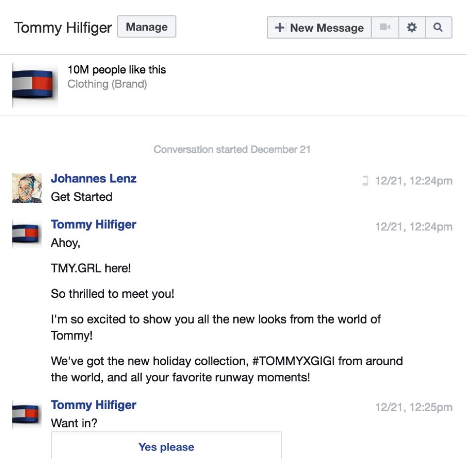 Tommy Hilfiger Chatbot
