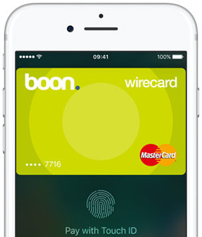 Apple Pay in der UK-Version von Boon