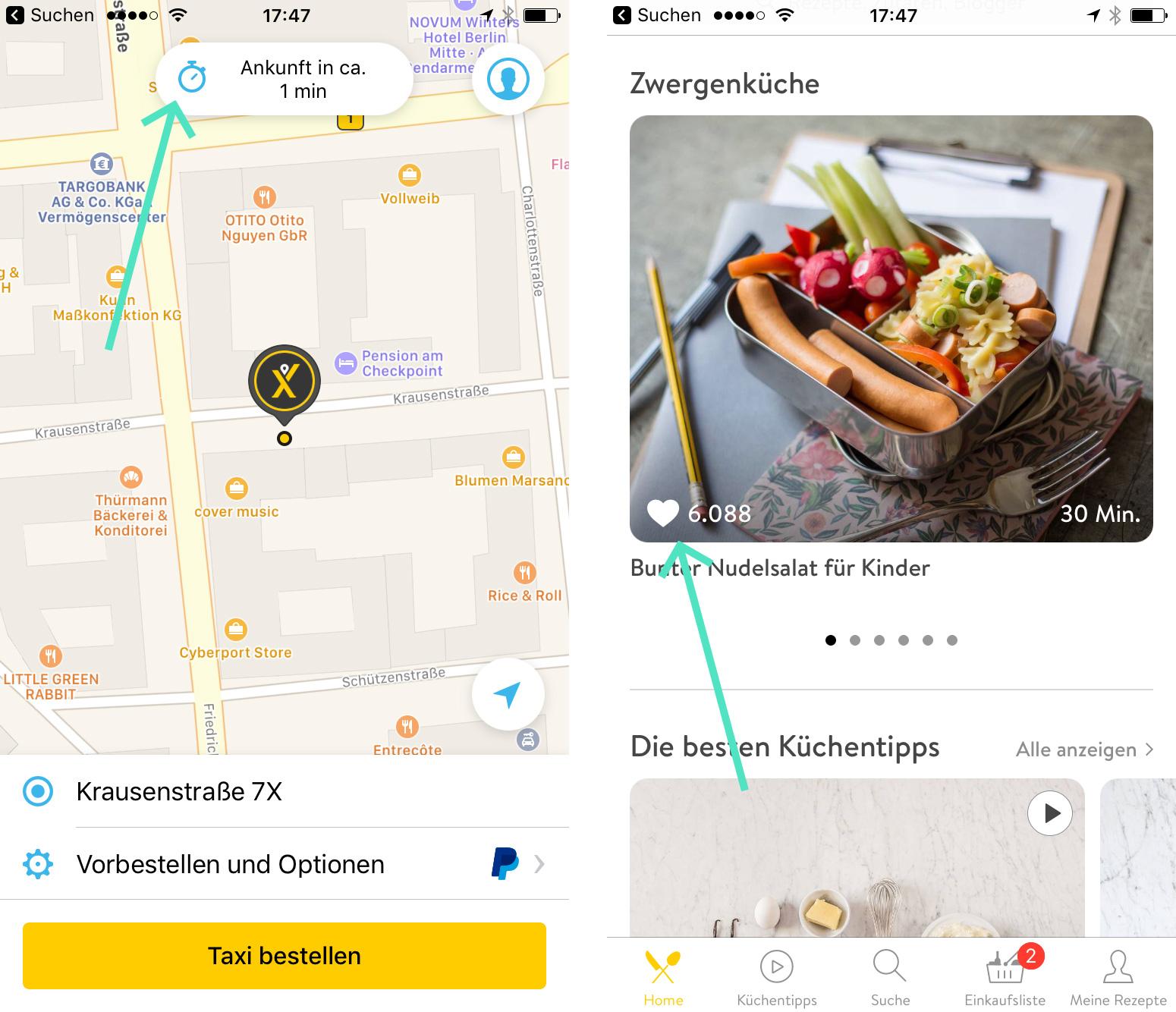 Beispiele für gelungenes App Design