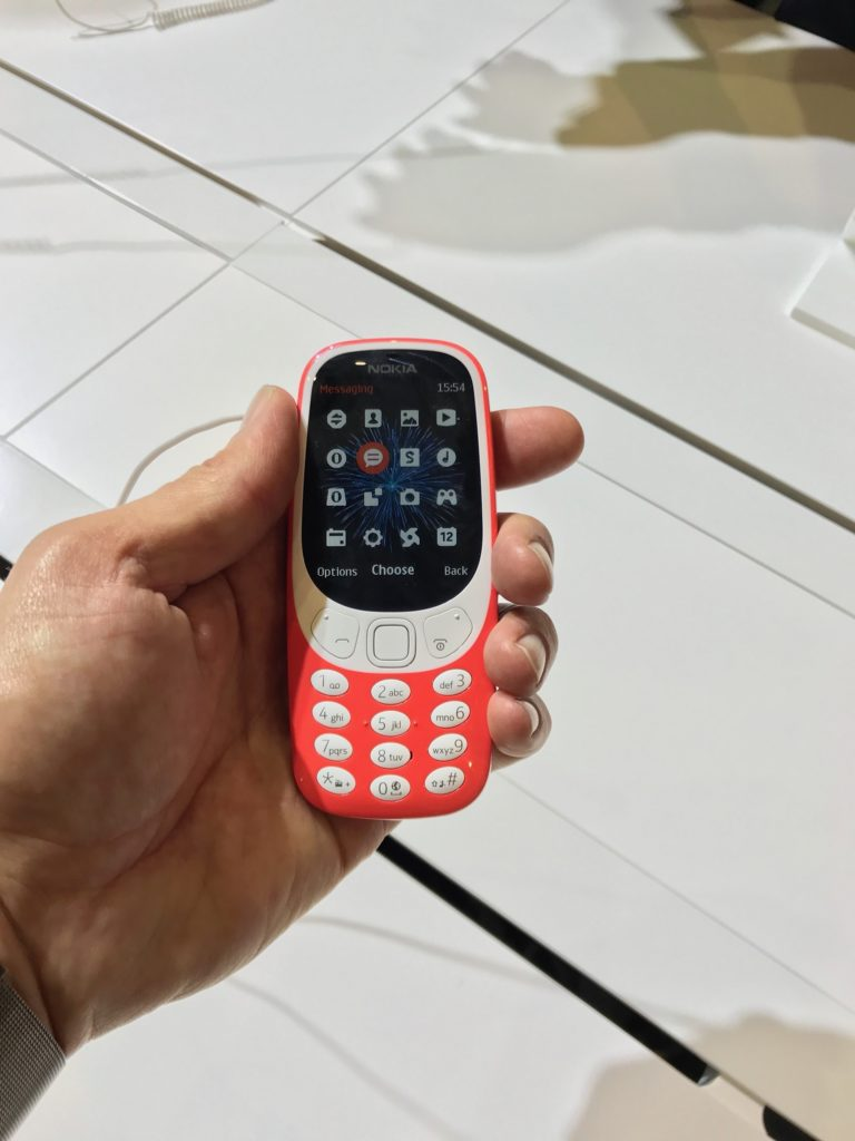 Ausgerechnet die Neuuflage des Einfach-Handys Nokia 3310 war der Star des MWC