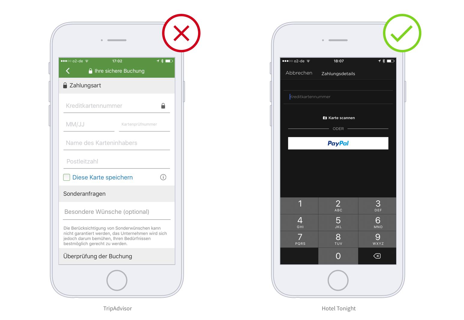 mobile formulare die h ufigsten usability fehler in apps. Black Bedroom Furniture Sets. Home Design Ideas