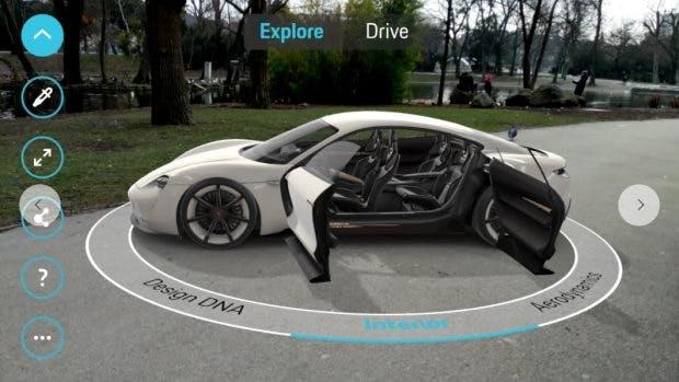 Porsche App mit ARCore 1.0