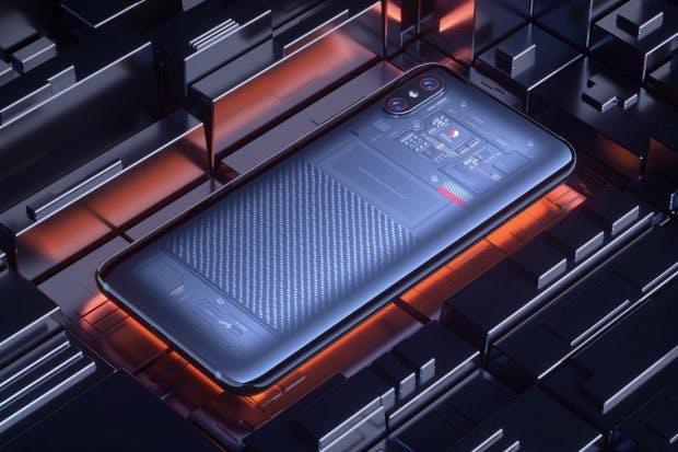 Die Explorer Edition des Xiaomi Mi 8 besitzt eine transparente Rückseite